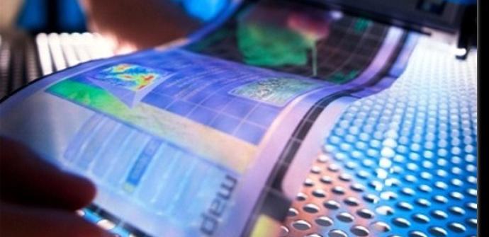 Pantalla flexible tipo OLED