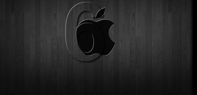 Logotipo de Apple con número 6 y fondo negro