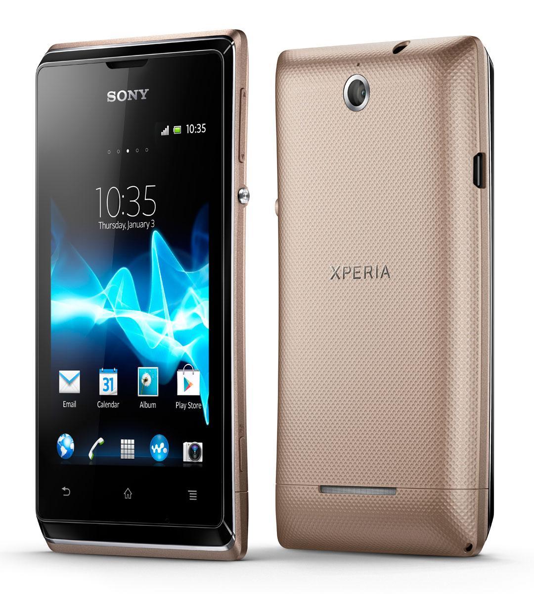 Sony Xperia E vista frontal y trasera