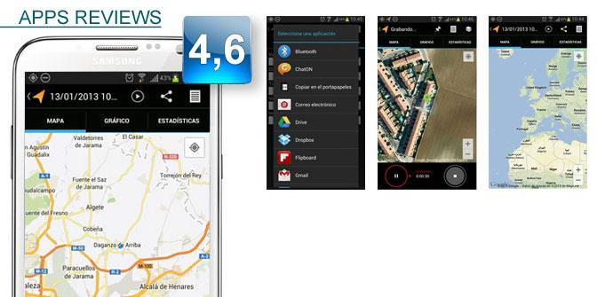 Aplicación My Tracks de Google