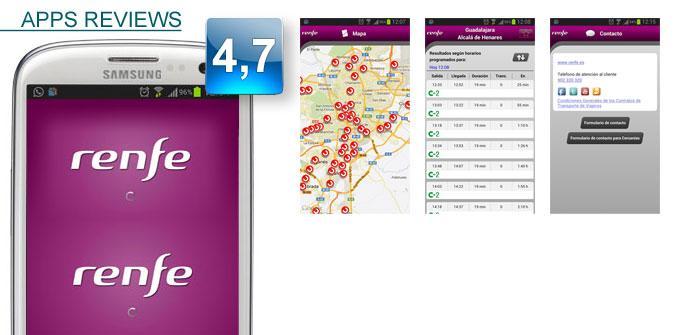 Aplicación de Renfe en Samsung Apps