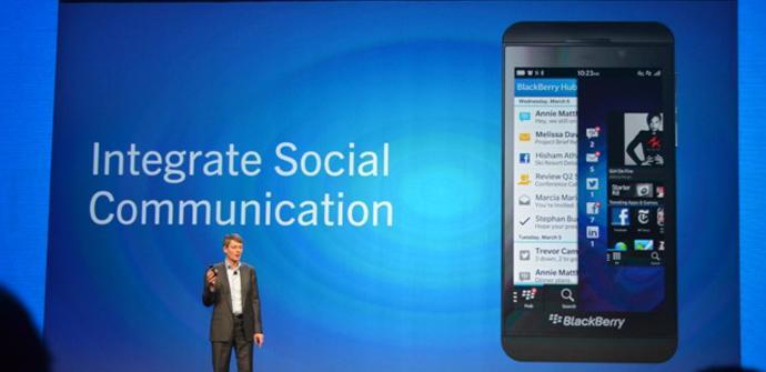 Nuevo teléfono BlackBerry Z10