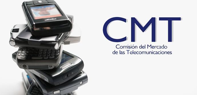 Teléfonos con logo de a CMT
