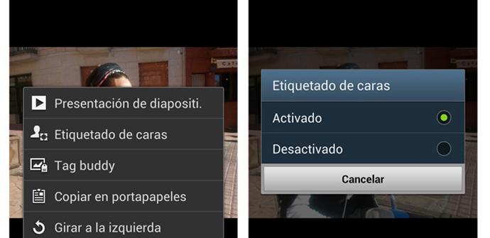 Etiquetado de caras en el Galaxy S3