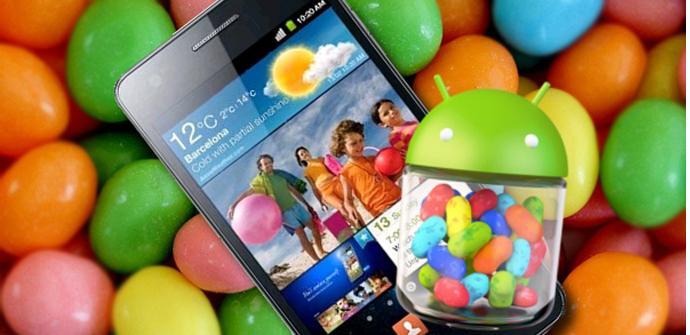 Teléfono Samsung Galaxy S2 y Jelly Bean