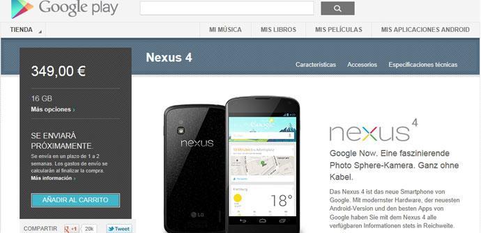 Nexus 4 Google Play