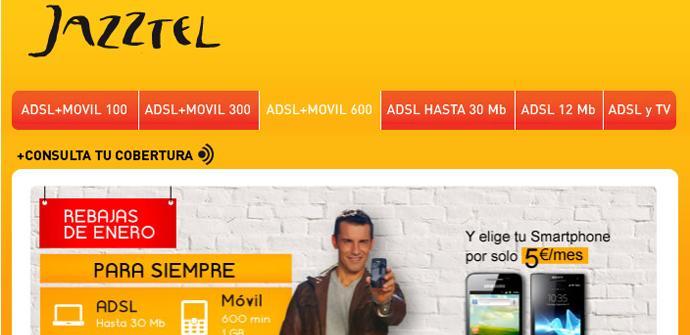 Página web de Jazztel
