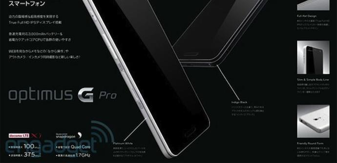 Diseño del Optimus G Pro