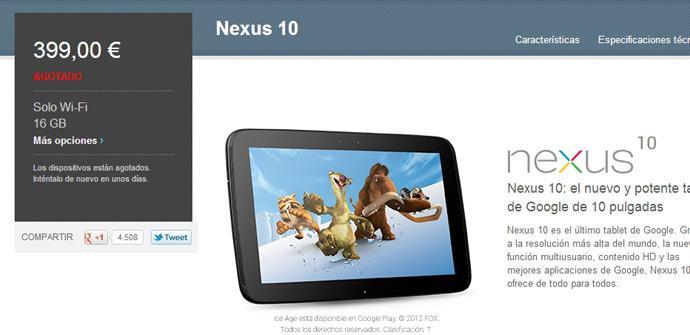 Tableta Nexus 10