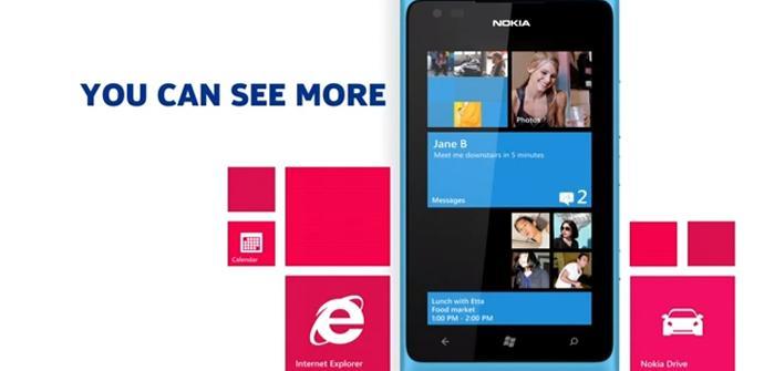 Teléfono Nokia Lumia con Windows Phone 7.8