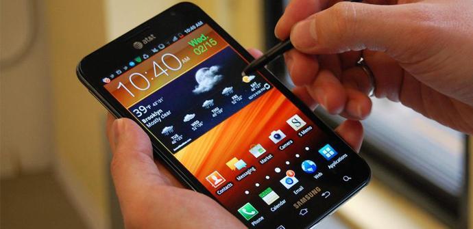 Escribiendo en un Samsung Galaxy Note