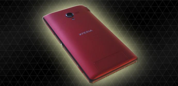 Phablet Sony Xperia ZL en rojo