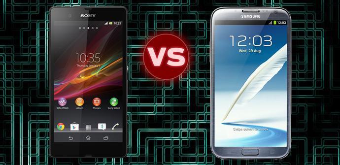 Sony Xperia Z contra Samsung Galaxy Note 2