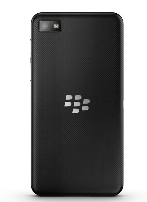 BlackBerry Z10 negro vista trasera
