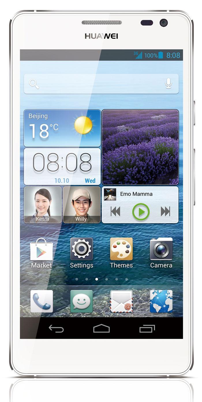 Huawei Ascend D2 en color blanco