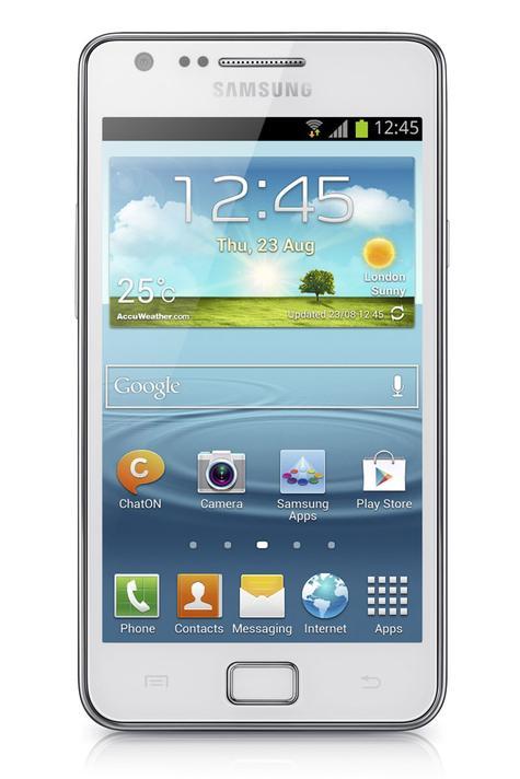 Samsung Galaxy S2 Plus de color blanco