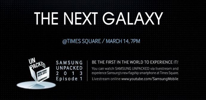 Invitación a la presentación del Galaxy S4