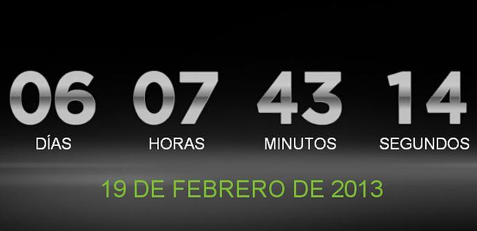 Página web de HTC con cuenta atrás para el lanzamiento del HTC M7