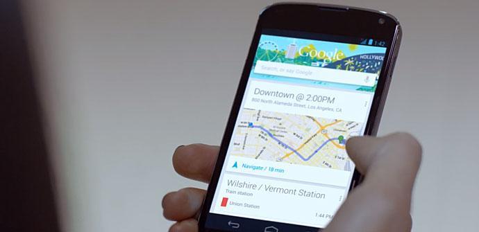Nexus 4 con Google Now