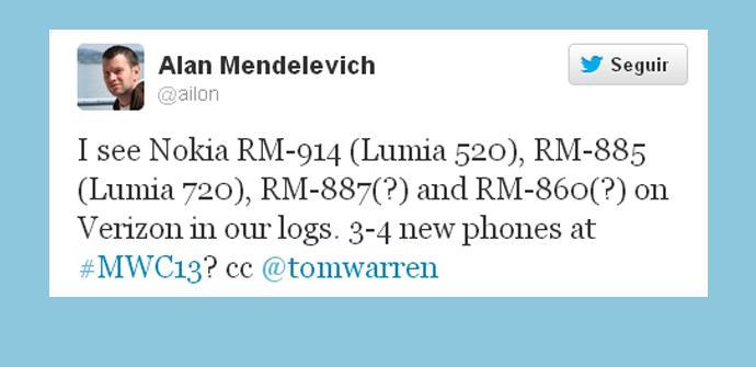 Cuatro posibles Nokia Lumia para el MWC