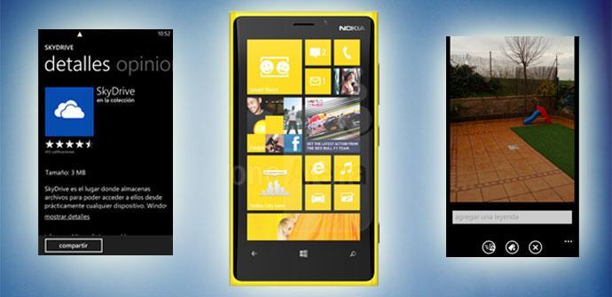Nokia Lumia 920 y SkyDrive