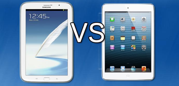Galaxy Note 8 contra ipad mini