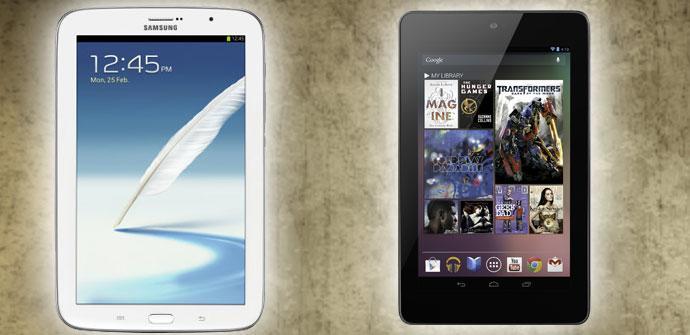 Samsung Galaxy Note 8 vs Nexus 7