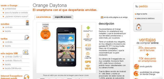 Orange Daytona con al tarifa Delfín