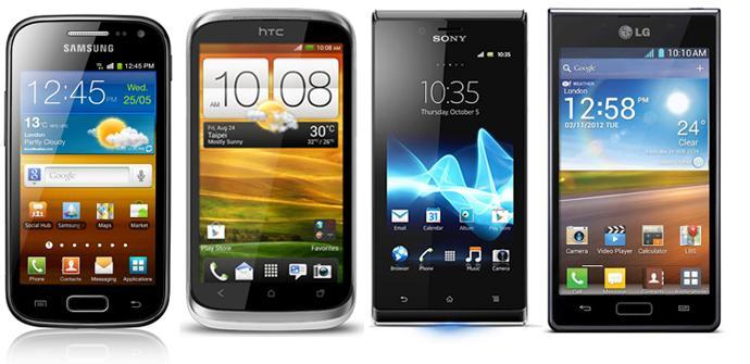 Cuatro teléfonos Android que cuestan unos 200 €