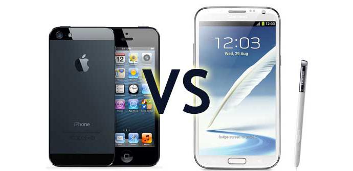 iphone5 vs galaxy note II