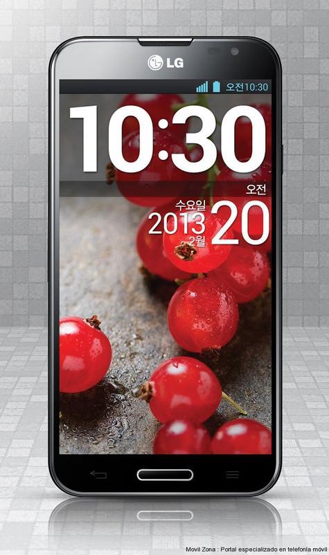 LG Optimus G Pro en color negro