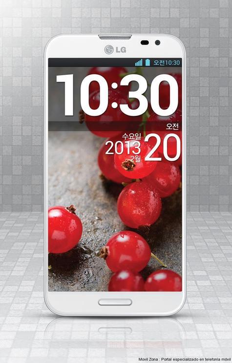 LG Optimus G Pro en color blanco