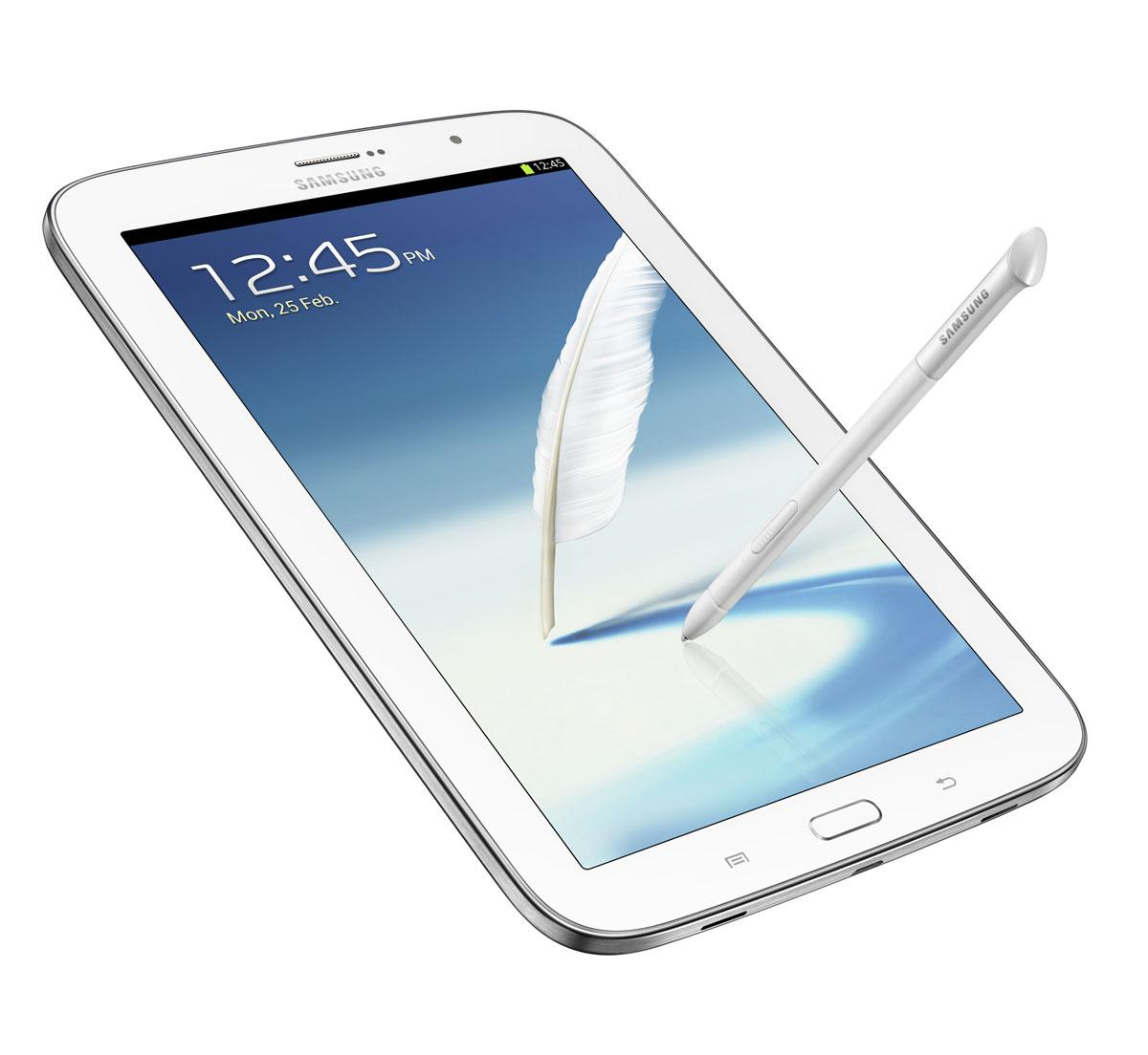 Samsung Galaxy Note 8 blanco con lapiz en pantalla