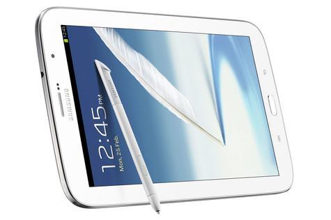 Samsung Galaxy Note 8 blanco vista apisada