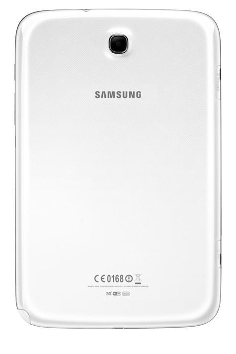 Samsung Galaxy Note 8 blanco vista trasera