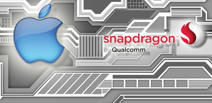 Logotipos de Apple y Qualcomm Snapdragon