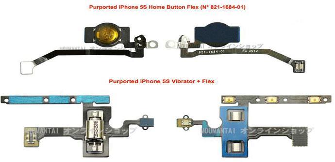 POsibles componentes del iPhone 5S de Apple