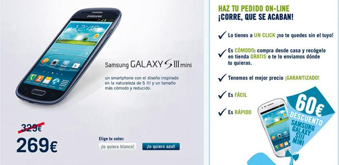 60 euros de descuento para el Galaxy S3 Mini en TPH