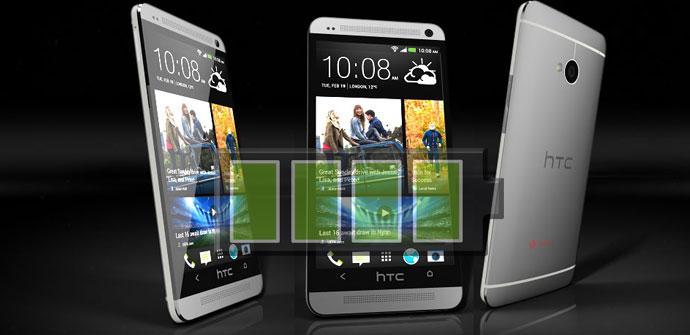 Teléfono HTC One con batería sobrepuesta