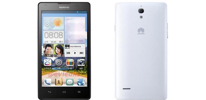 Huawei Ascend G700 en color blanco
