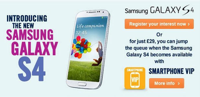 Samsung Galaxy S4 en Carphone Warehouse