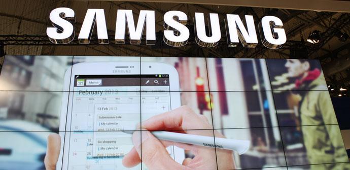 Logotipo de Samsung en MWC