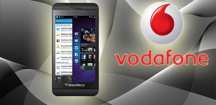 BlackBerry Z10 y Vodafone