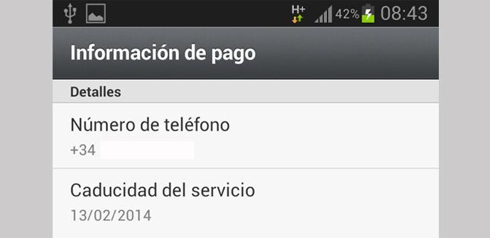 WhatsApp renueva automáticamente por un año