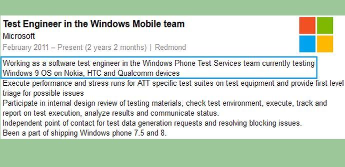 Windows Phone 9 en fase de pruebas