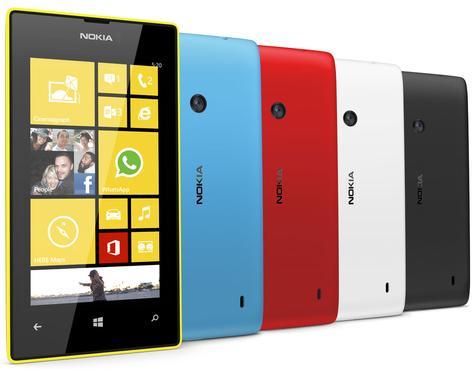 Nokia Lumia 520 vista frontal y trasera