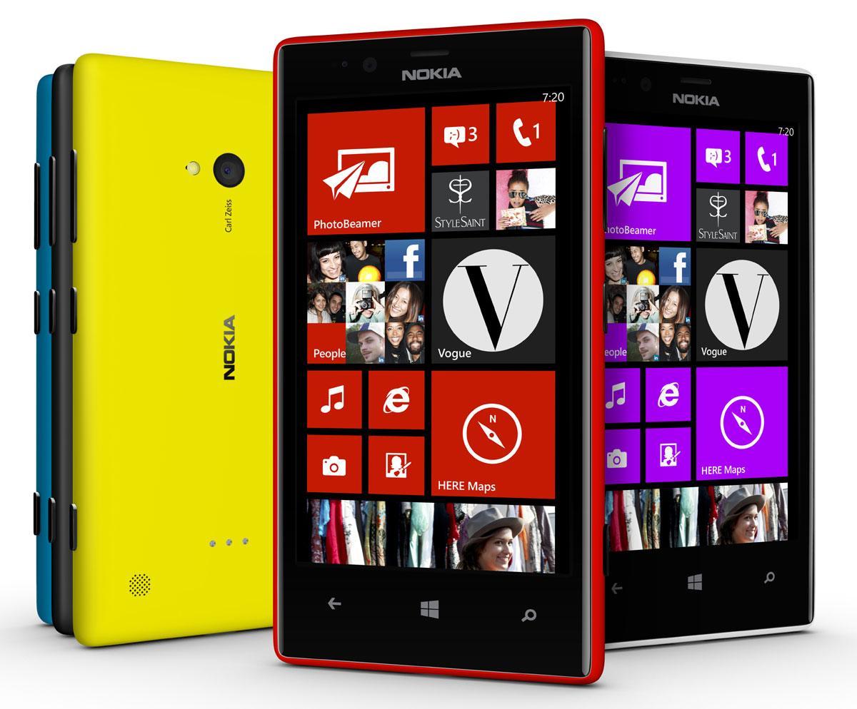 Nokia Lumia 720 en varios colores