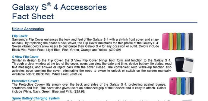 Accesorios originales para el Samsung Galaxy S4