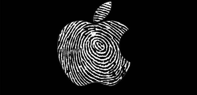 Logo Apple huella dactilar