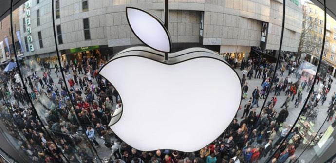 Logo de Apple en una de sus tiendas